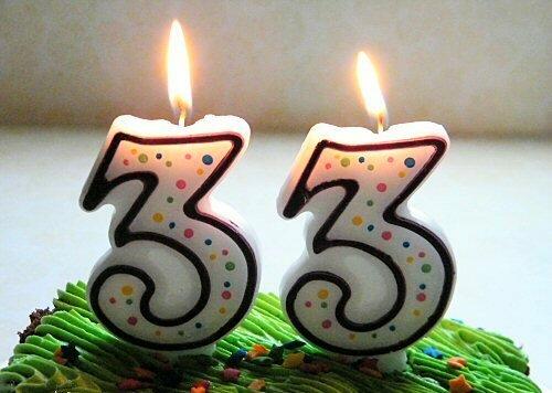 Прикольное поздравление на 33 летие