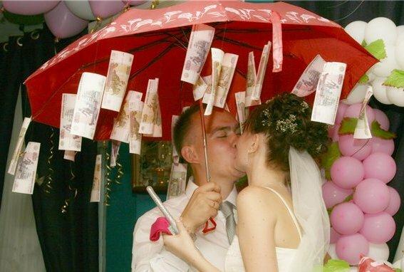Поздравление на свадьбу с зонтиком