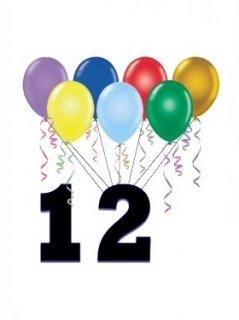 Поздравление: 12 лет тебе - ура!