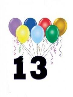 Поздравление: 13 лет тебе - ура!