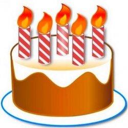 Поздравление: 5 лет и 5 свечек