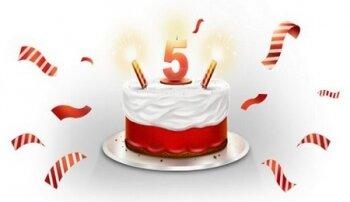 Поздравление: 5 лет - отличный возраст
