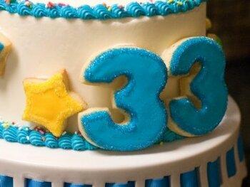 Поздравление с 33-летием
